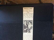 c3-2 ephemera 1950 margate wedding mr j bower miss t a fisher article