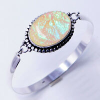 Australian Triplet Opal 925 Sterling Silver Plated Handmade Jewelry Bangle 18 Gm