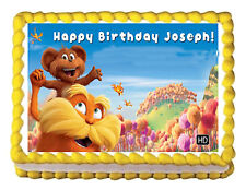 """THE LORAX  edible cupcake toppers edible image   decoration -7.5""""X10"""""""