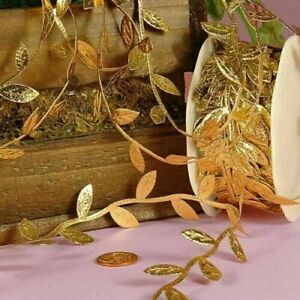 Gold leaf ribbon perfect for gift wrapping wedding decor or crafts