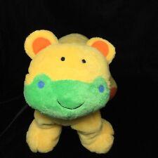 El Cortes Ingles Yellow Bear Cat Plush Soft Toy Rattle Stuffed Green Rattle