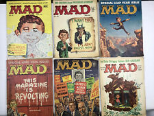 Mad Magazine Lot 1950's-60's and Some Annuals Issues 54 to 82 w/ others 40 total