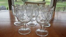 8 Vintage Water WIne Glasses Goblets Golden Grape by Indiana Glass Large 16oz