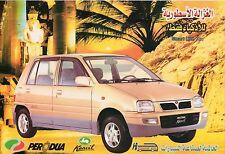 Perodua Kencil car (made in Malaysia) _2000 Prospekt / Brochure