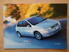 FIAT STILO orig 2001 UK Mkt launch intro sales brochure - Abarth