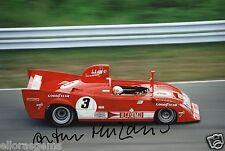 """Le MANS Driver ARTURO MERZARIO hand signed photo autograph 12x8"""" AC"""