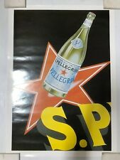S. PELLIGRINO ITALIAN MINERAL WATER POSTER LOT OF 2 DIFFERENT