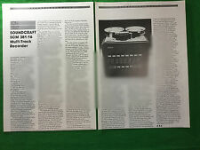 Soundcraft SCM 381-16 multi track Recorder 1981 article / review 16 track 1""