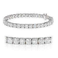 Bargain.. 4.27 Carat Round Diamond Tennis Bracelet,UK Hallmarked White Gold