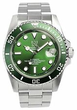 HYAKUICHI 101 Men's Automatic 20BAR Diver's Analog Date Green Watch