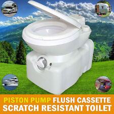Cassette Toilet Scratch Resistant Swivel Access Piston Push Flush