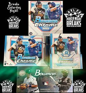 NEW YORK METS 2021 Bowman Sterling Chrome Baseball Hobby Mixer Break #8
