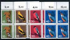 Briefmarken Deutschland Bund 1963 Vögel 4 er Block 401 - 404 ** BR267