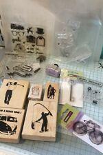 Male Themed Stamp Set Bundle. Please read description.