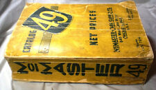 McMaster Carr Supply Catalog #49 ASBESTOS Carey Roofing Crane Packings WWII RARE