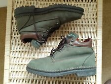 Olive green suede ankle boots from Hush Puppies - size 3