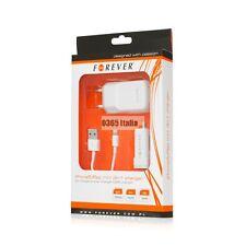 Forever Kit 3 in 1 Caricabatteria Auto Rete per iPhone 5 5C 5S