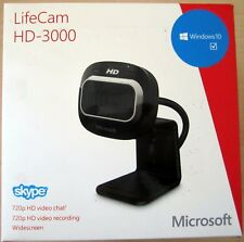 Microsoft LifeCam HD-3000 Widescreen Video Chat Webcam T3H-00011 Win 7/8 Only