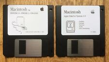 Apple System 1.0 and Apps floppy disk and for Macintosh 128k and 512k