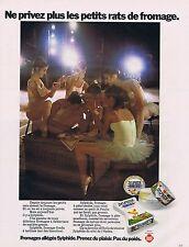 PUBLICITE ADVERTISING 045 1973 SYLPHIDE fromages allégés pour les petits rats