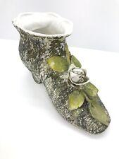 Antique Decorative Shoe Bisque Ceramic
