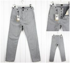 NEW  LEE 101 CHINO WORK  SELVEDGE  GREY  SLIM TAPERED  FIT JEANS _ ALL SIZES