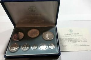 1974 - Coinage of BELIZE - Sterling Silver Proof Coin Set