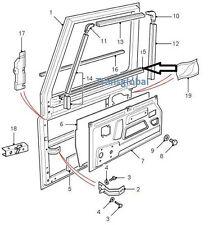 Land Rover Defender Delantero Puerta Ventana cintura interior sello de goma-LR parte Original