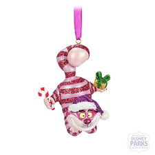 Disney Parks Alice in Wonderland Cheshire Cat Glitter Ornament Christmas