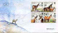 Bosnia & Herzegovina 2017 FDC Chamois WWF 4v Cover Deer Wild Animals Stamps