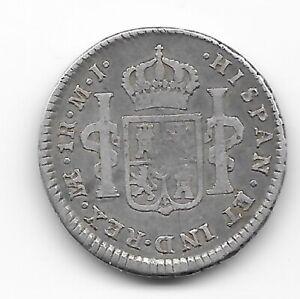 PERU  1 real 1776  SILVER  KM#75  VF