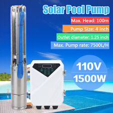 """4""""Dc Submersible Deep Bore Well Solar Water Pump 110V 1500W Irrigation Automatic"""