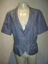 LADIES BLUE/WHITE STRIPED JACKET BY RED HERRING DEBENHAMS SIZE 12 UK NEW