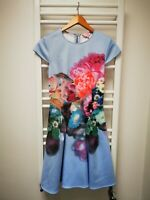 Ted Baker summer cocktail dress flowers * size 1 * worn once * paid £145 💜