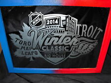 2014 NHL SPECIAL EDITION WINTER CLASSIC MAPLE LEAFS RED WINGS 9X12 ETCHED MIRROR