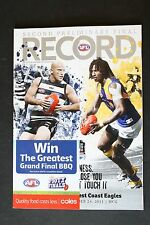 2011 Geelong vs West Coast Eagles 2nd preliminary final football record footy