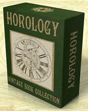 HOROLOGY, CLOCK & WATCH MAKING, REPAIR, HISTORY 96 Vintage Books on DVD Clocks