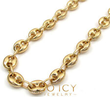 "26-30"" 6.5m Mens Ladies 10k Yellow Real Gold Mariner Anchor Gucci Chain Necklace"