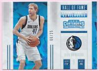 DIRK NOWITZKI 2017-18 PANINI CONTENDERS HALL OF FAME CRACKED ICE #06/25 MAVS
