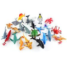 24x Sea Ocean Marine Animals Toys Model Figure Creatures Kids Educational New