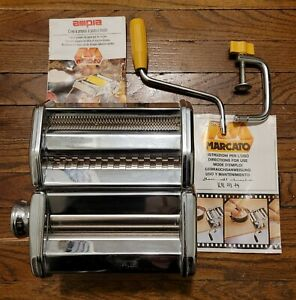 Marcato Atlas Pasta Noodle Maker Machine Hand Crank Turn Model 150 Made In Italy