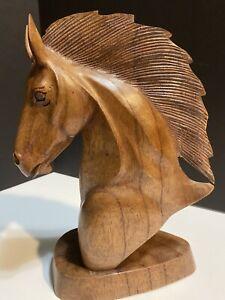 Horse Head Chess Statue Art Wood. Beautiful Classic Piece!