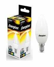 1x Energizer E14 SES Candle LED Light Bulb 250lm Opal 3.4W=25W Warm White 2700k