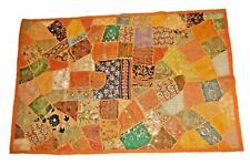 Embroidered Vintage Patchwork Handmade Wall Hanging Tapestry Throw Runner Mat W7