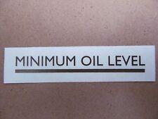 62-0123 TRIUMPH BSA NORTON MOTORCYCLE UNIVERSAL GOLD MINIMUM OIL LEVEL TRANSFER