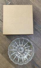 "NEW in BOX Bohemia Clear Crystal Cut Glass 6"" Round Bon-bon Dish"