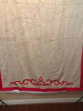 Pratesi Bath Sheet 15x71 Brand New With Tag Tan And Red Egyptian Cotton Italy