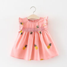 Pineapple Dress Baby Girl Newborn Clothes Kids Cotton Toddler Sleeveless Outfits