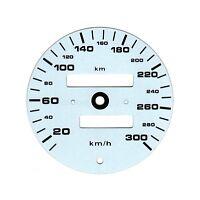 300km/h WEISS EINSATZ TACHO KOMBI-INSTRUMENT GESCHWINDIGKEIT PORSCHE 911 993 964