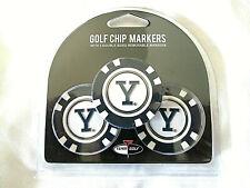 NCAA Yale Bulldogs 3 Pack Golf Ball Markers Poker Chip Enamel Team
